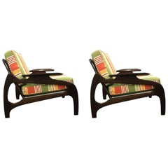 Pair of Lounge Chairs, Model 1209C, by Adrian Pearsall for Craft Associates