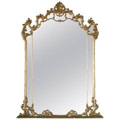 Antique Gilt Mirror with Original Glass