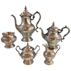 Chantilly Duchess by Gorham Sterling Silver Tea Set Five Pieces Hollowware