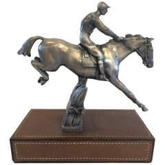 Ralph Lauren Polo Statue with Leather Base