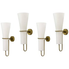 Set of Four Hans-Agne Jakobsson Wall Lights, 1950s