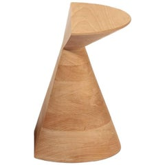 Large 'Ban' Stool in Haya Hardwood, Mexican Contemporary Design