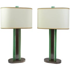 Roberto Rida Magnificent Venini Glass Lamps, Limited Edition