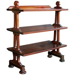 Handsome English George IV Late Regency Mahogany Etagere by Thomas King