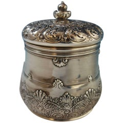 Tiffany & Co. Sterling Silver Tea Caddy Gold Washed Fancy #10444-9066 Hollowware