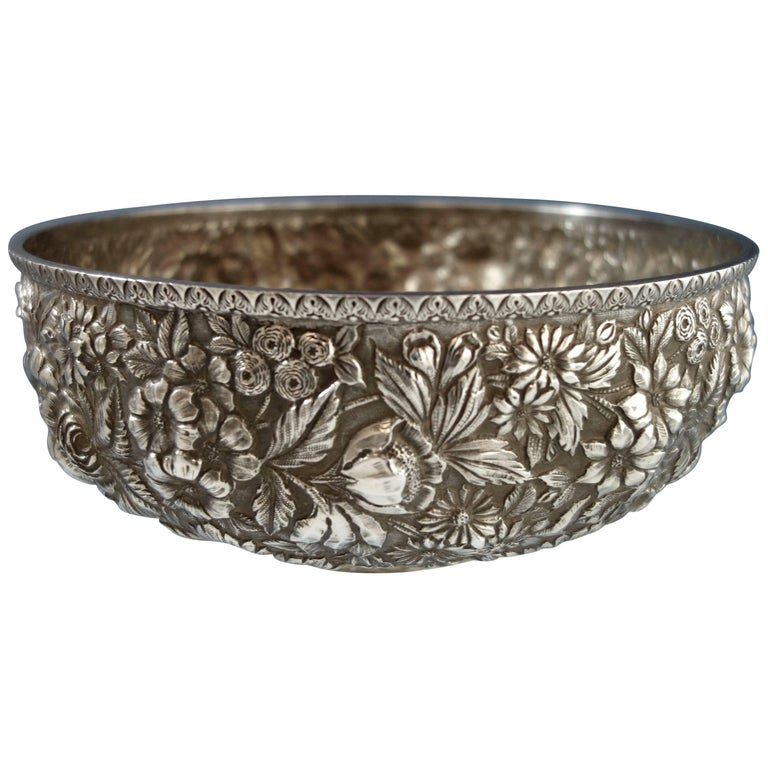 Repousse By Jenkins And Jenkins Sterling Silver Fruit Bowl