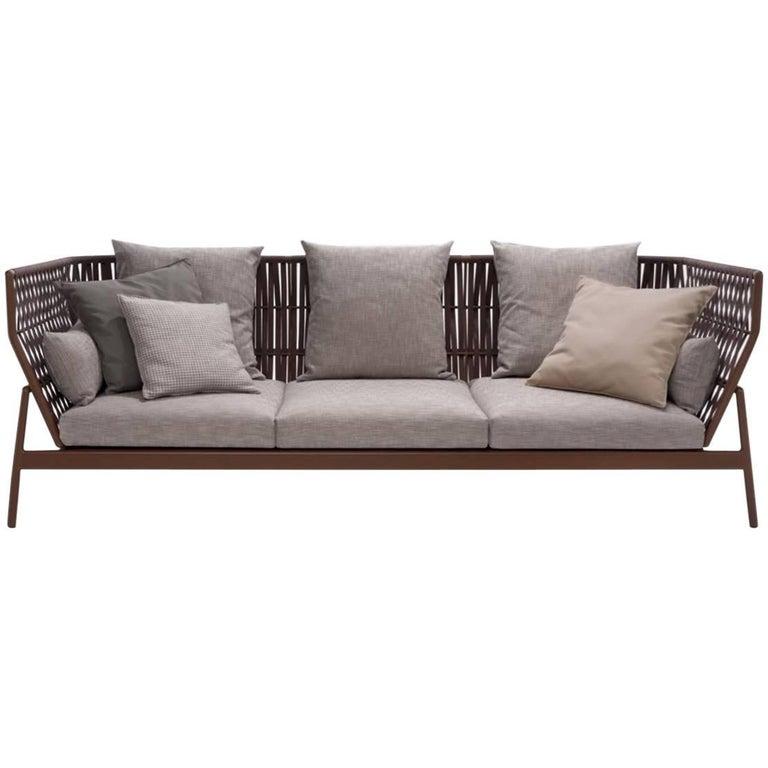 Roda Indoor or Outdoor Piper 103 Sofa Designed by Rodolfo Dordoni