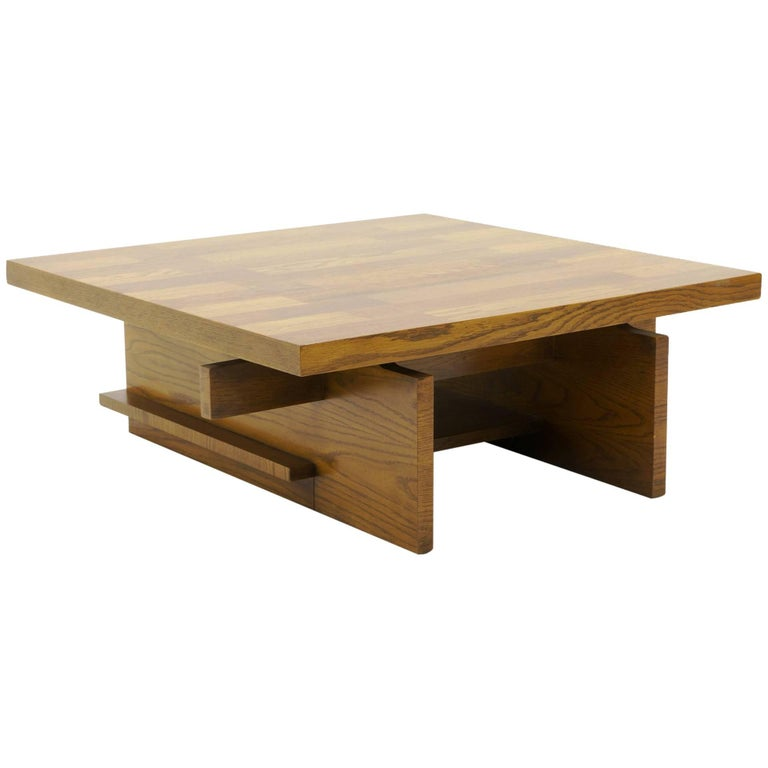 Coffee Table by Lane Heavy Walnut Construction