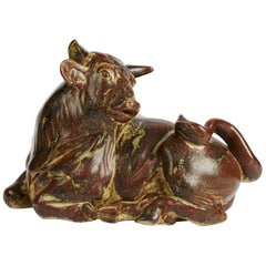 Knud Khyn for Royal Copenhagen, Ceramic Bull, Denmark, circa 1970s