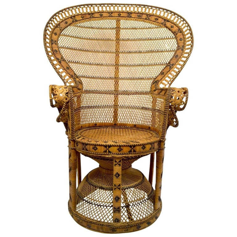 Wicker Emmanuel Peacock Chair 1