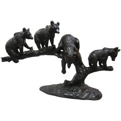 Large Bronze Group of Four Bears-Anton Buschelberger, 1920