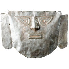 Pre-Columbian Chimu Gold Mask With Scar