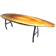 Super Sleek Surfboardesque Slab Coffee Table in Poplar