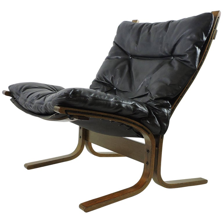Ingmar Relling Westnofa Danish Modern Siesta Sling Lounge Chair