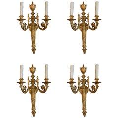 Set of Four Bronze Sconces