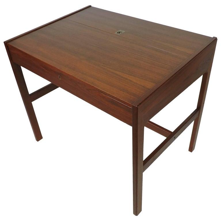 Arne Wahl Iversen Danish Modern Teak Desk or Vanity Table, Model 82