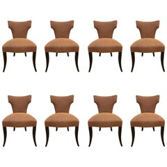 Set of Eight Klismos Style Dining Chairs