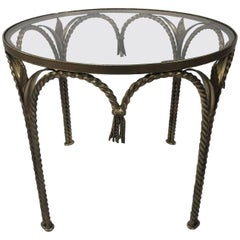 Italian Rope and Tasselled Side Table