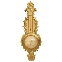 Early 1900s Giltwood Barometer from France