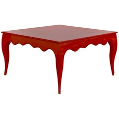 Square Dining Room Table of Large Scale with Cabriole Legs