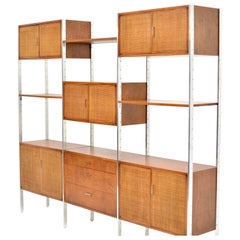 Milo Baughman Attributed Walnut and Aluminium Wall Unit by Founders