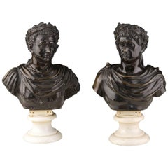 Roman Emperors Busts Italy, circa 1800