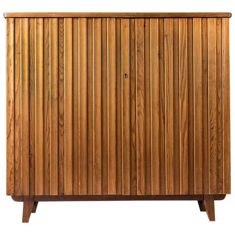 Swedish Pine Cabinet by Göran Malmvall for Svensk Fur