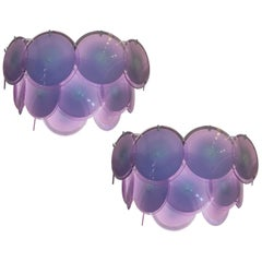 Pair of Disc Sconces by Vistosi, Murano, 1970s