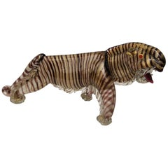 "Murano Glass 1950s ""Tiger"" by Alfredo Barbini"