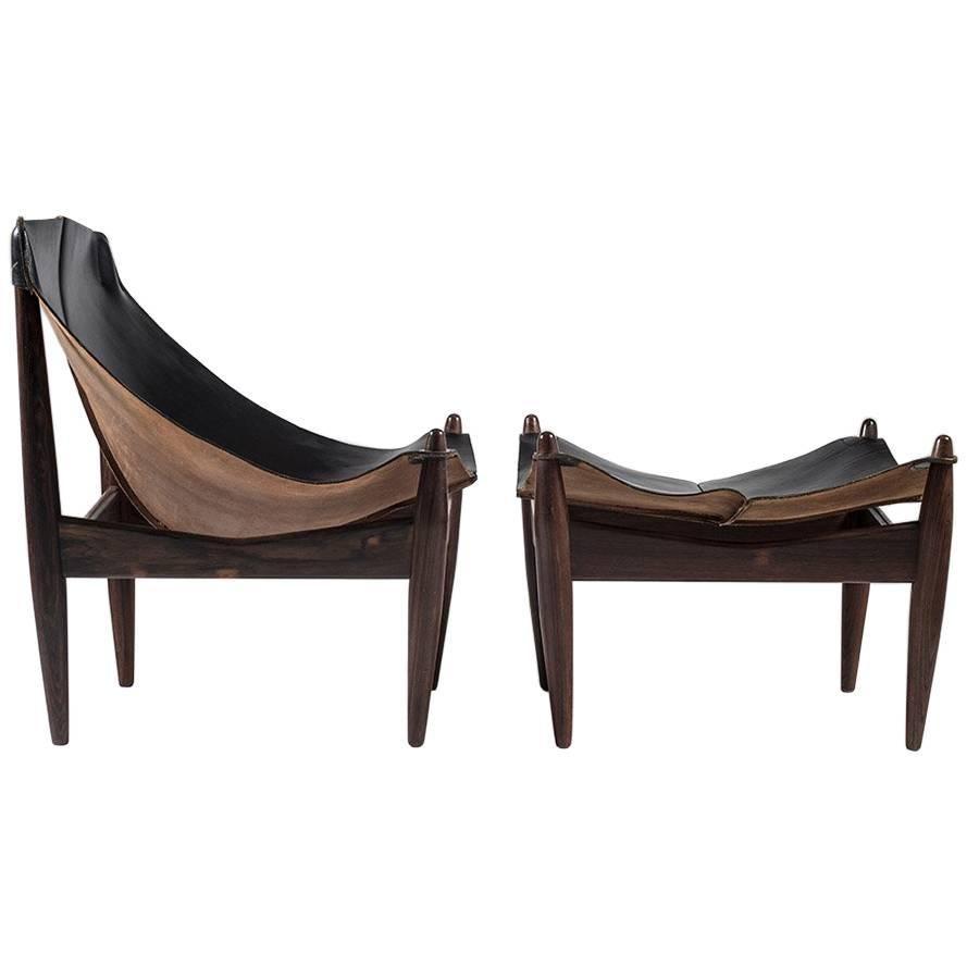 Scandinavian Easy Chair and Ottoman Model 272 Designed by Illum Wikkelsø