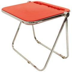 Red Platone Desk Table by Giancarlo Piretti for Anonima Castelli, 1960s