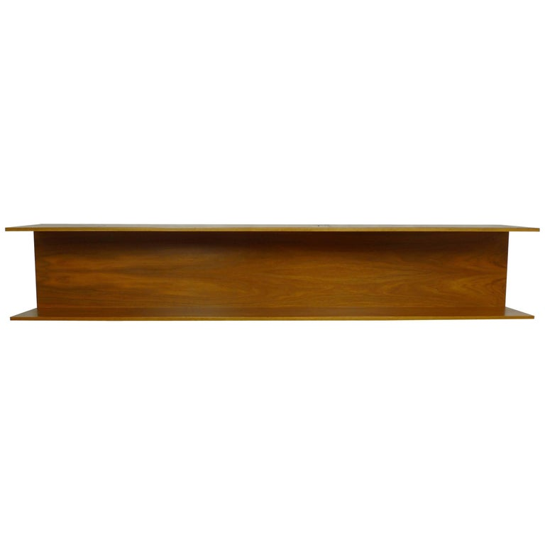 Walnut Wall Shelf by Walter Wirtz for Wilhelm Renz, Germany, 1960s