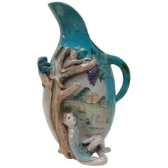 Marcello Fantoni Italian Ceramic vase  Signed and Dated 1942 Florence.