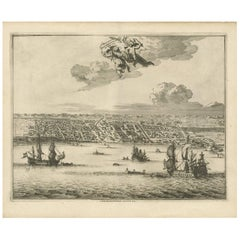 Antique Print of Makassar 'South Sulawesi, Indonesia' by P. van der Aa