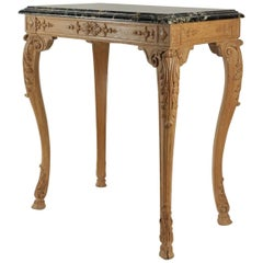 Oak Hand-Carved Gueridon Table in the Style of Louis XV