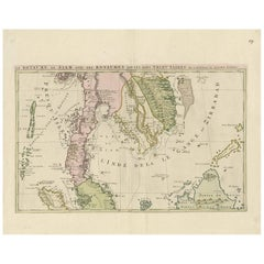 Antique Map of Southeast Asia by J. Ottens, 1710