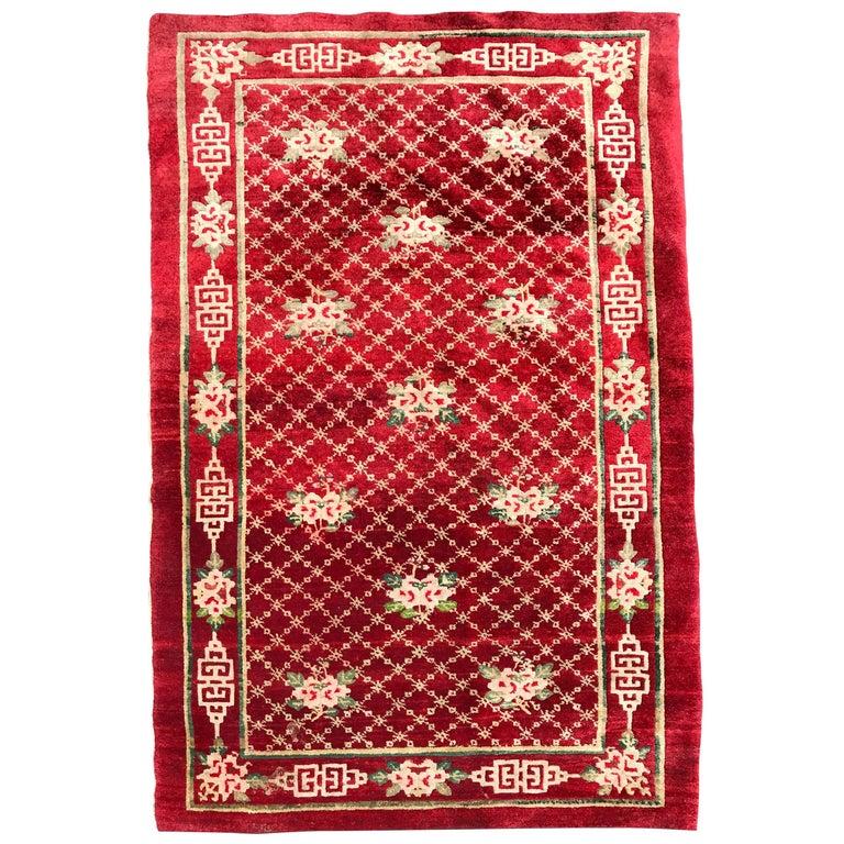 Antique Tibetan Rug: Antique Chinese Tibetan Rug For Sale At 1stdibs