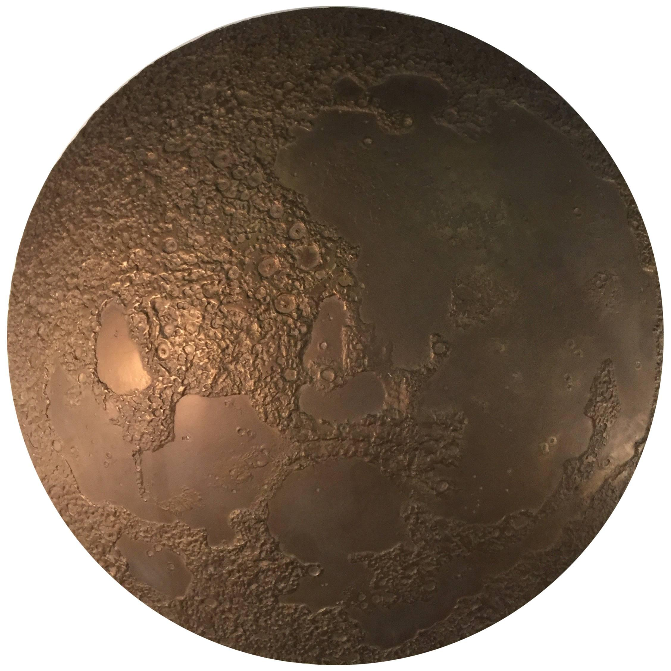 Large Bronze Moon Wall Mounted Sculpture