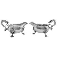 Silver Pair of Cream Jars, William Comyns & Sons Ltd, London, 1930