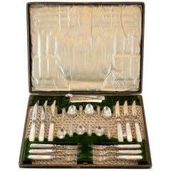 Silver and Mother-of-Pearl Tableware Set, James Dixon & Sons Ltd, Sheffield 1903