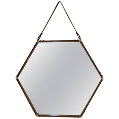 Large Hexagonal Mirror, circa 1960, Italy