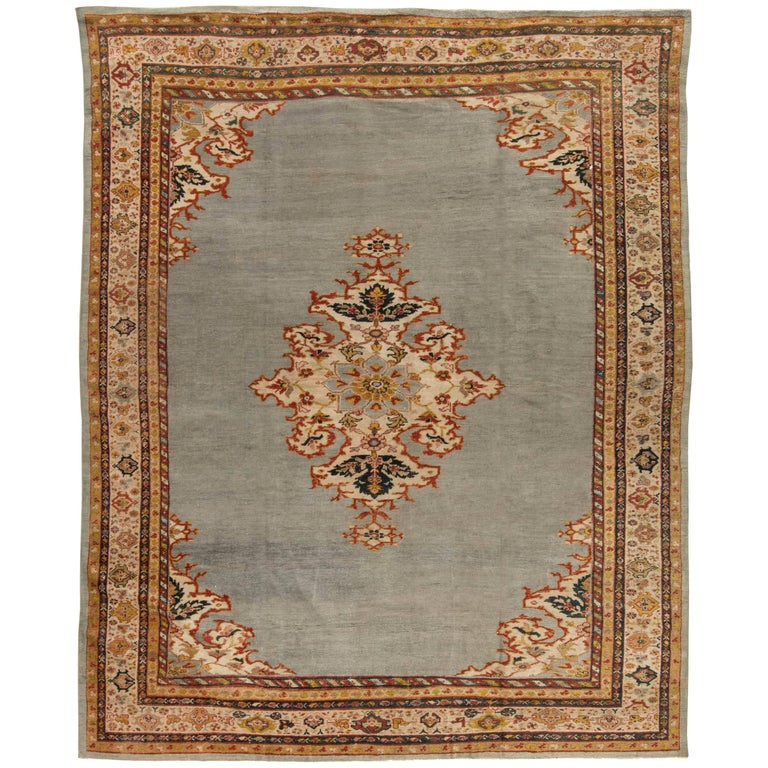 Antique Persian Sultanabad Rug For Sale
