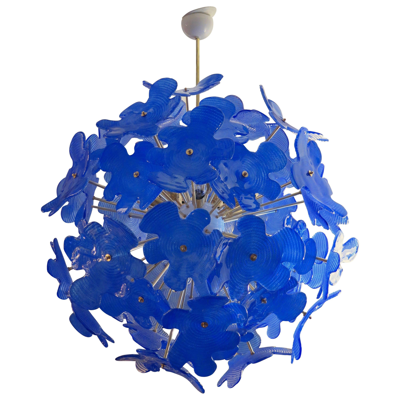 Murano Sputnik Art Glass Midcentury Chandelier, 1970