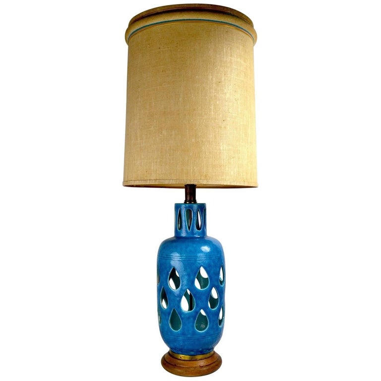 Rimini Bitossi Ceramic Table Lamp by Londi For Sale