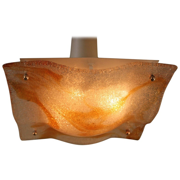 Stunning Murano Glass Flush Mount Light