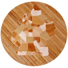 Reclaimed Wood Brooklyn Map Marquetry Wall Art