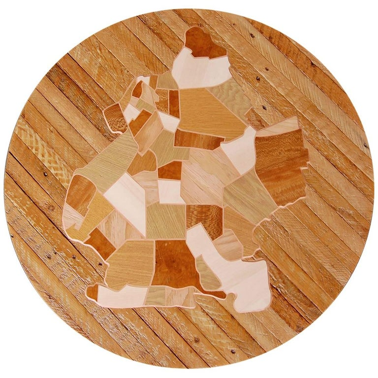 Reclaimed wood brooklyn map marquetry wall art for sale at Reclaimed wood wall art for sale