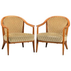 Pair of Swedish Bergere Armchairs
