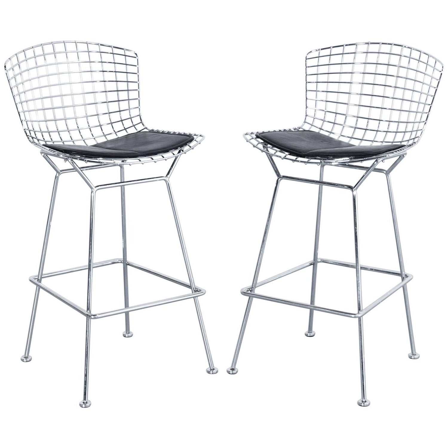 Set Of Two Walter Knoll Harry Bertoia Barstools, Designer Chairs