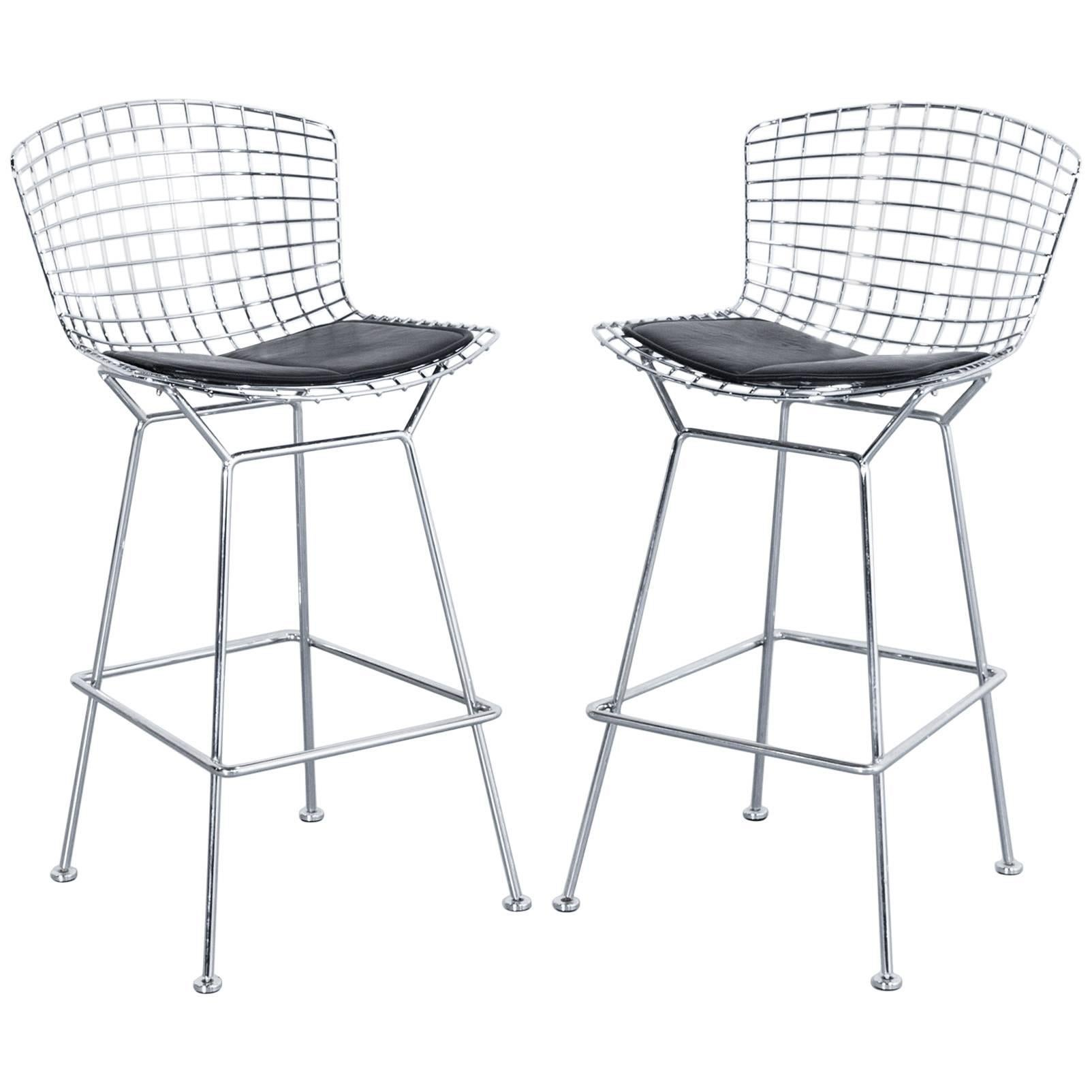 Set Of Two Walter Knoll Harry Bertoia Barstools, Designer Chairs For Sale